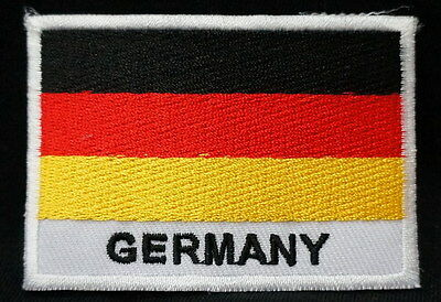 "GERMANY FLAG EMBLEM PATCH SEW ON EASY TO USE 2""x3"""