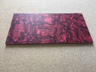 "KIRINITE: TRUE BLOOD 1/8"" 6"" x 12"" Sheet for WoodWorking,Knife Making"