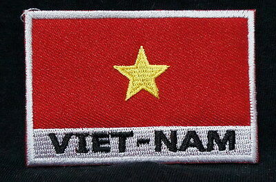 "VIET-NAM FLAG EMBLEM PATCH SEW ON EASY TO USE 2""x3"""