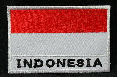 "INDONESIA FLAG EMBLEM PATCH SEW ON EASY TO USE 2""x3"""