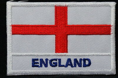 "ENGLAND - FLAG EMBLEM PATCH SEW ON EASY TO USE 2""x3"""