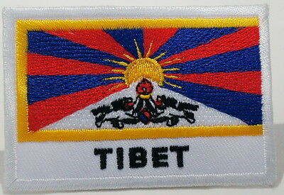 "TIBET - FLAG EMBLEM PATCH SEW ON EASY TO USE 2""x3"""