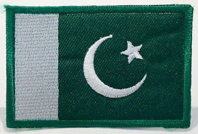 "PAKISTAN - FLAG EMBLEM PATCH SEW ON EASY TO USE 2""x3"""