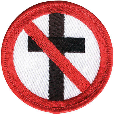 Bad Religion Men's Cross Buster Embroidered Patch Red