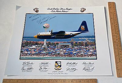 SIGNED by GYSGI JOE ALLEY 2010 BLUE ANGELS POSTER - Fat Albert Airlines -JASMINE