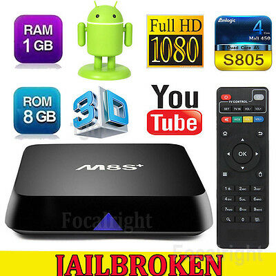 M8S+ Plus Fully Loaded Quad Core Android 4.4 Smart TV Box Media Player