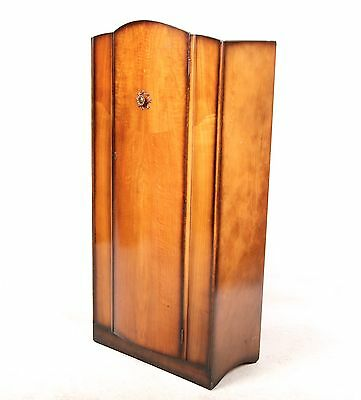 Vintage Wardrobe Art Deco Compactum Gents Wardrobe Inlaid Walnut 1930s