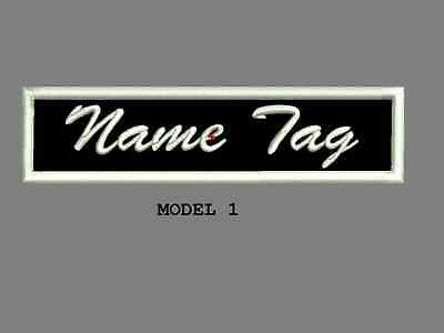 "Custom Embroidered 4"" x 1"" Name Tag Patch Motorcycle Biker Iron on/sew on Script"