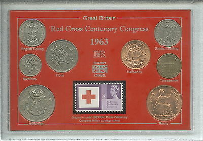 Centenary of the Red Cross Congress Humanitarian Coin & Stamp Year Gift Set 1963