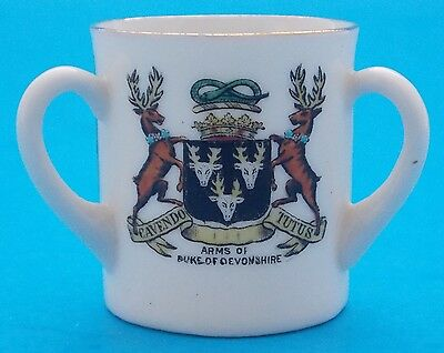 Wh Goss Model Of Three Handle Mug Peveril Of The Peak, Cavendo Tutus, Buxton