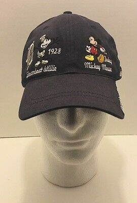 WALT DISNEY AUTHENTIC THRU THE YEARS MICKEY MOUSE HAT STEAMBOAT WILLIE Dad Hat