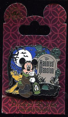 Haunted Mansion Mickey Pluto Caretaker with Hitchhiking Ghost Disney Pin 95956