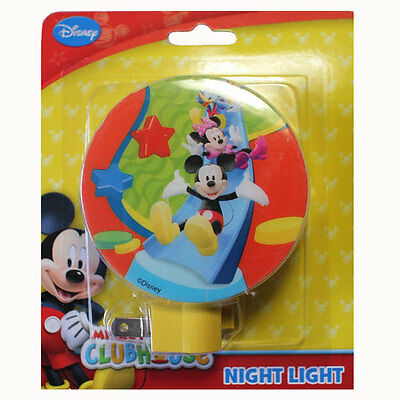 Disney Clubhouse Mickey Mouse Donald Duck & Minnie Nursery Room Bath Night Light
