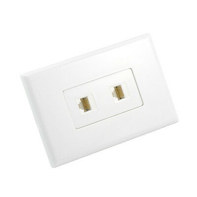 Cat6 Wall Plate 2 Port - Punch Down