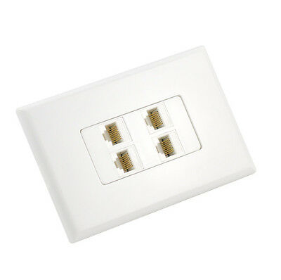 Cat6 Wall Plate 4 Port - Punch Down