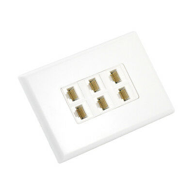 Cat6 Wall Plate 6 Port - Punch Down