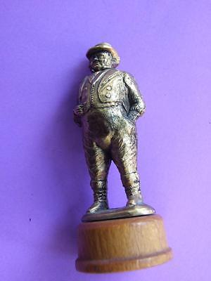 Vintage Crown Miniatures Churchill Statue on Stand Made in Great Britain