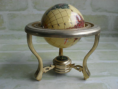 Desktop - Mini Rotating Earth / Globe With Compass