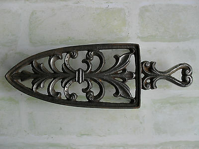 Original Vintage Metal Iron Plate - Iron Rest / Hot Plate