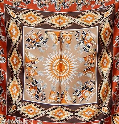Vintage Eleanor Paine native tribal Skemo polyester scarf Aesotica