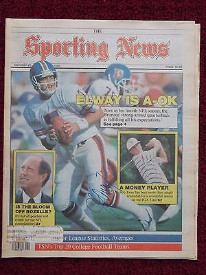 """JOHN ELWAY autographed """"THE SPORTING NEWS"""" OCTOBER 20, 1986"""