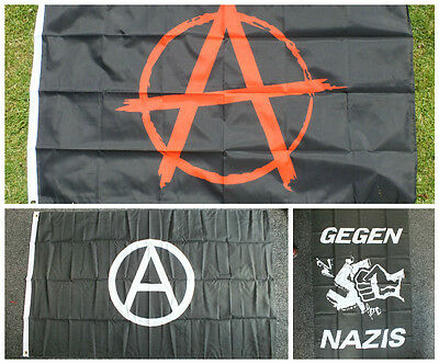 Anarchie Rot Flagge Anarchisten Punks/Oi Antifa Skinheads Chaos Krasse Sex