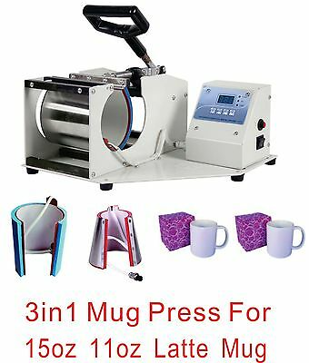 HOT SALE! 3 IN1 Professional Sublimation Mug Press Machine