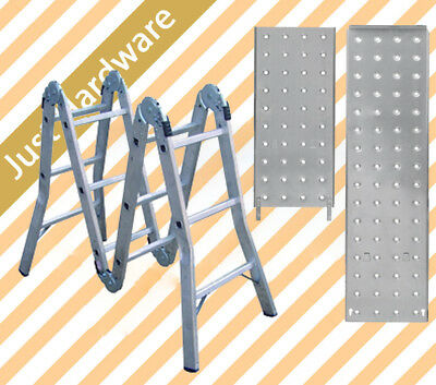 Aluminium Folding Step Platform Ladder 3.7M Fully Extended