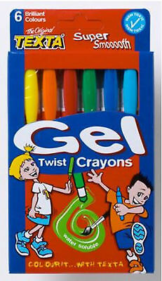 Texta Gel Twist Crayons-Pack of 6