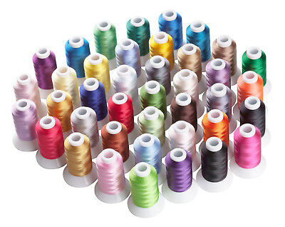 SIMTHREAD 40WT Polyester Embroidery Home Machine Thread - 40 Colors, 500M/pc