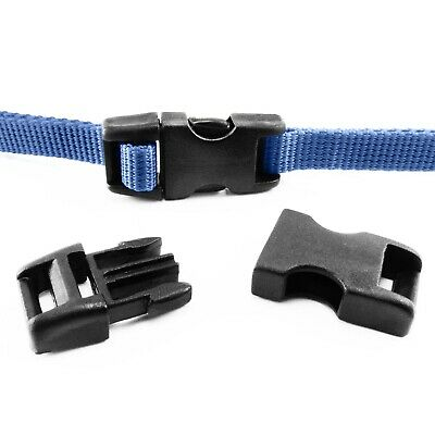 Plastic single adjusting side release buckles for 10 mm webbing, AIB