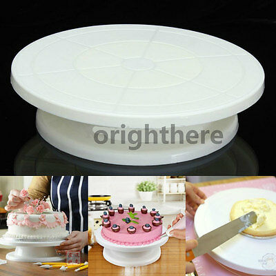 11 Rotating Revolving Cake Plate Decorating Turntable Kitchen Display Stand CJJ