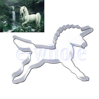 Unicorn Horse Cookies Cutter Mold Cake Decorating Biscuit Pastry Baking Mould WT