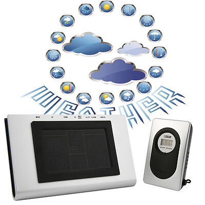 New 433MHz Wireless Weather Station Clock Digital Barometer Color Display ZP