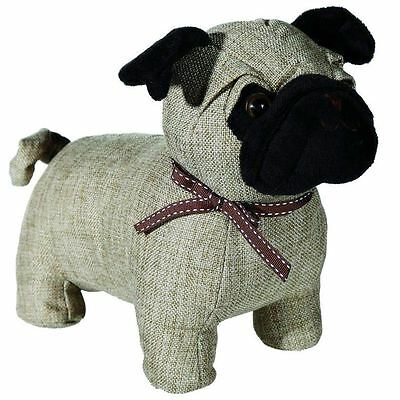 Pug Dog Shaped Fabric Door Stopper Home Accessory