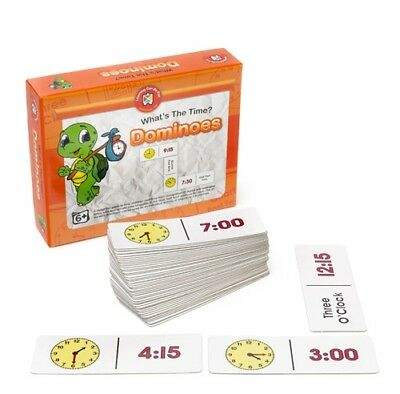 What's The Time Dominoes Game Educational Maths Teacher Resource Kids Learning