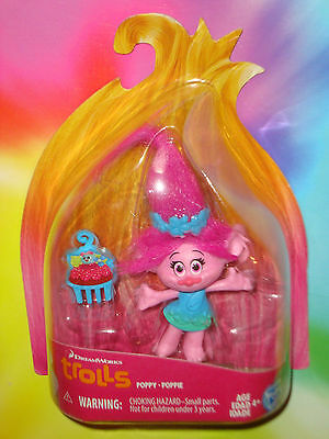 "TROLLS MOVIE 2016 - Poppy 3"" inch Figure - DREAMWORKS Poppie"
