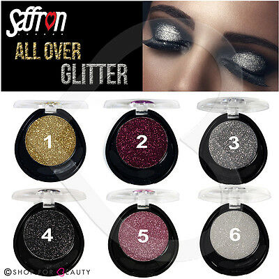 Saffron All Over Glitter 4.5g Gel Eyeshadow Eyeliner Lipstick Face & Body Fix