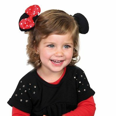 Disney Minnie Mouse Ears with bow dress up Hair Clips Band
