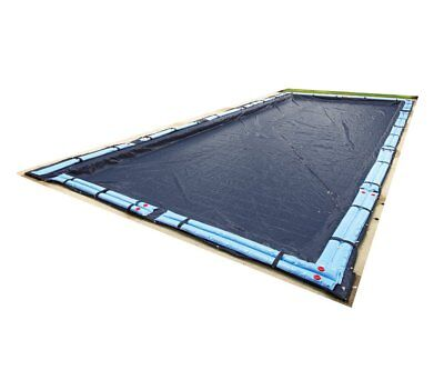 Winter Pool Cover Inground 16X24 Ft Rectangle Arctic Armor 8Yr Warranty w/ Tubes