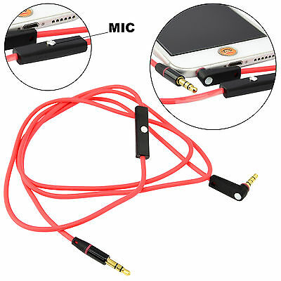 New 3.5mm Male To Male Audio Aux Car Stereo Headphone Extension Smartphone Cable