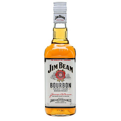 Jim Beam White Label 40% Alc Imported Bourbon 700mL