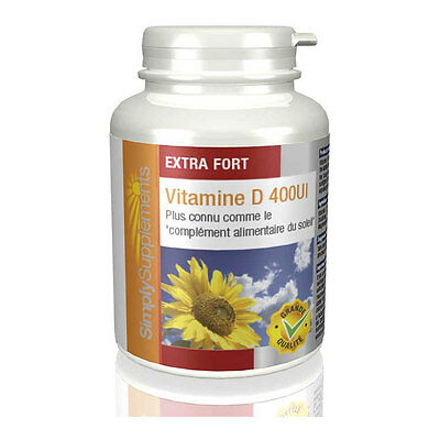 Vitamine D 400iu - 120 Comprimés - Simply Supplements