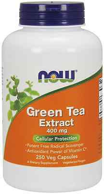 New - Now Foods Green Tea Extract 400 mg 250 Caps