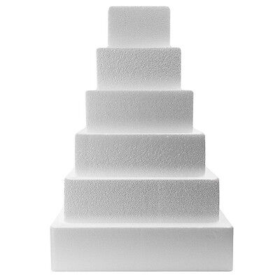 Chamfered Edge Square Cake Dummy - Choose Your Size