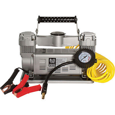 MasterFlow 12 Volt 120 PSI Twin Air Compressor for Trucks, SUVs, RVs & Trailers