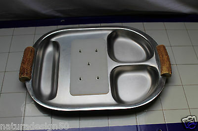 PLAT A GIGOT ROSBIFF  ACIER INOXYDABLE MARQUE CHICHESTER luxe  COMPLET