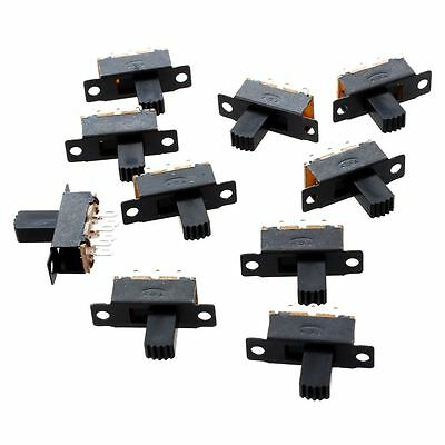 10 Pcs 6 Pins 2 Positions DPDT On/On Mini Slide Switch YM