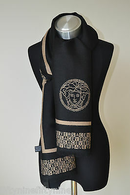 NEW GENUINE  VERSACE WOOL SCARF  MADE IN ITALY MEN / WOMAN  Gift