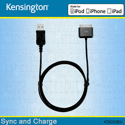 Kensington Apple 30-pin USB Sync+ Charge 2.1 amp Power Cable/Lead for iPad 1 2 3